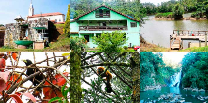 Fotos da estrutura e das paisagens da pousada